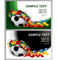 soccer Euro 2012 background vector image