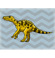 vintage grunge background with dinosaur vector image