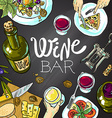 wine and cheese vector image vector image