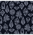 Seamless pattern with different gemstones vector image