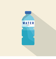 Single Water Plastic Bottle Flat Deign vector image