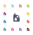 car oil flat icons set vector image