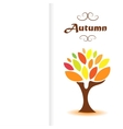 drawing of bright autumn tree on a white vector image