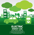 Electric Energy Car vector image
