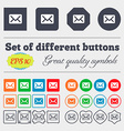 Mail envelope letter icon sign Big set of colorful vector image