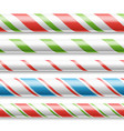 xmas candy cane horizontal seamless vector image