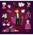 Magician set vector image