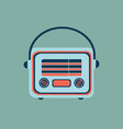 retro home electronics radio in vintage style vector image