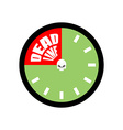 Deadline Ends up being on clock vector image