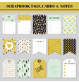 Scrapbook Tags Cards and Notes - for Birthday vector image vector image