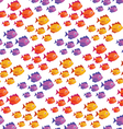 tropical fish pattern vector image vector image