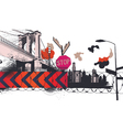 urban abstract background vector image vector image