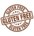 gluten free brown grunge round vintage rubber vector image