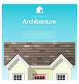 architecture background with a small house vector image