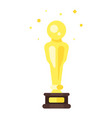 flat style icon of movie reward vector image