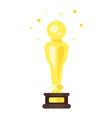 flat style icon of movie reward vector image