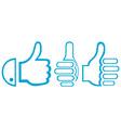 Gesture hand vector image