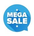 Mega Sale sticker vector image