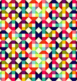pattern of colored geometric elements vector image