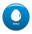 pomelo icon blue vector image