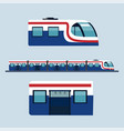 sky train station flat design objects side view vector image