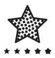 star icons isolated vector image
