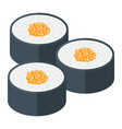 Sushi flat icon food and drink japanese rolls vector image