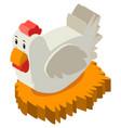 3d design for chicken in nest vector image