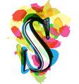 Artistic Font - Letter S vector image
