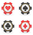 casino chips 02 vector image