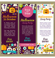 Halloween Holiday Party Invitation Template Flyer vector image