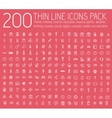 set of thin line icons pictogram For web and vector image