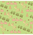Seamless pattern of toys vector image