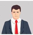 Businessman portrait - thinking man in suit vector image