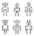 Retro smart robots set vector image vector image