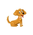 Brown dog icon cartoon style vector image