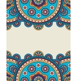 Indian doodle floral borders frame vector image