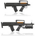 Machine gun with a short barrel and grenade vector image