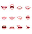 Mouth Icons Set vector image
