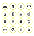 Set round icons of cables and wires vector image