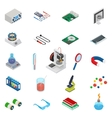 Isometric science icons with 3D design vector image