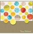 Retro Christmas Card vector image vector image
