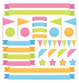ribbons and flags vector image vector image