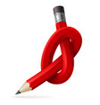 abstract node of pencil for design vector image vector image