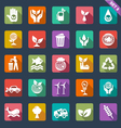 Ecology icon set - flat design vector image vector image