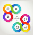 Color circle web interface template with icons vector image vector image