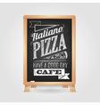 Chalk drawings Menu Pizza Retro typography vector image