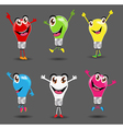 Creative light bulb ideas with cartoon character vector image vector image