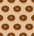 Chocolate Donuts seamless pattern Desserts food vector image