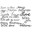 Hand lettering set vector image